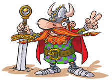 Viking warrior. Royalty Free Stock Images