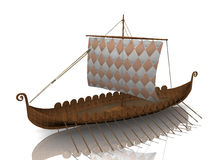 Viking warship. The  Viking warship on white background Royalty Free Stock Images