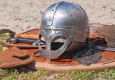 Viking weaponry stock photography