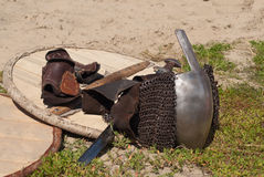 Viking weaponry Stock Image