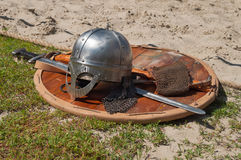 Viking weaponry Royalty Free Stock Photography