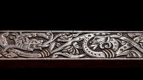 Viking wood carving Royalty Free Stock Photos