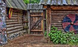 Viking wooden house Royalty Free Stock Image