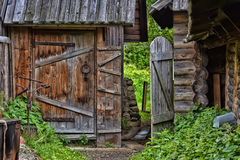 Viking wooden house Royalty Free Stock Photography