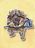 Vikingen, het Decoratieve schilderen Royalty-vrije Stock Afbeelding