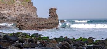 Vikingen vaggar sikt om kusten från Tenerife arkivfoto
