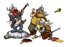 Vikingmusik royaltyfri illustrationer