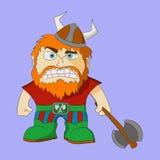Vikingo con el hacha Imagenes de archivo