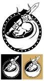 Vikingo con la espada Imágenes de archivo libres de regalías