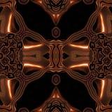 Vikingo de bronce metálico abstracto como modelo hizo inconsútil ilustración del vector
