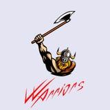 Vikingo fuerte furioso Imagenes de archivo