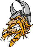 Vikingo/insignia bárbara de la historieta de la mascota libre illustration