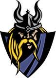 Vikingo/insignia bárbara de la mascota ilustración del vector