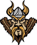Vikingo/insignia bárbara de la historieta de la mascota Fotografía de archivo libre de regalías