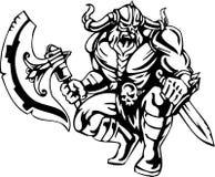 Vikingo nórdico - ilustración del vector. Vinilo-listo. Fotos de archivo libres de regalías