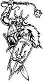 Vikingo nórdico - ilustración del vector. Vinilo-listo. Fotografía de archivo libre de regalías