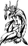 Vikingo nórdico - ilustración del vector. Vinilo-listo. Fotos de archivo