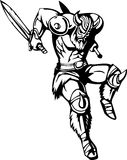 Vikingo nórdico - ilustración del vector. Vinilo-listo. Imagenes de archivo