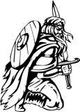 Vikingo nórdico - ilustración del vector. Vinilo-listo. Foto de archivo