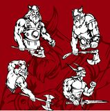 Vikingos. Fotos de archivo