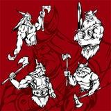 Vikingos. Imagen de archivo libre de regalías