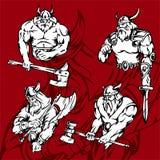 Vikingos. Foto de archivo libre de regalías