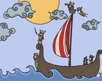 Vikingos Imágenes de archivo libres de regalías