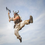 Vikings attack from sky Stock Images