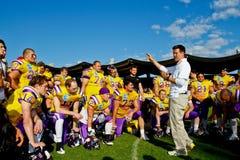 Vikings contre Broncos Photos libres de droits