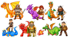 Vikings and dragons Stock Photo
