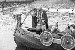 Vikings Drakar Stock Photo