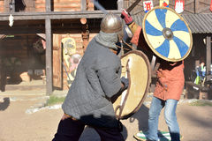 Vikings duel Stock Photography