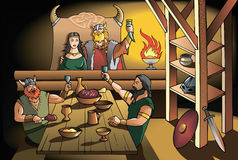 Vikings feast Royalty Free Stock Image