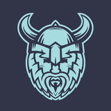 Vikings logo element, warrior in helmet with horns. Eps 10 file, easy to edit Stock Photography