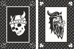 Vikings lucky cards Royalty Free Stock Photos