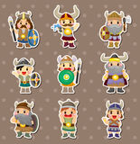 Vikings people stickers Royalty Free Stock Photography