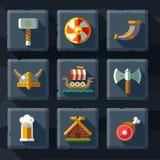 Vikings and Scandinavian items Stock Photos