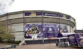 Vikings Stadium Minneapolis. Metrodome downtown Minnesota Royalty Free Stock Image