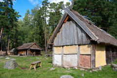 Vikings village. Sweden Royalty Free Stock Photos