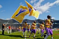 Vikings vs. Broncos Stock Photography