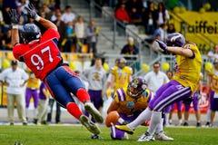 Vikings vs. Broncos Royalty Free Stock Photos
