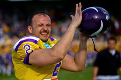 Vikings vs. Giants Royalty Free Stock Photo
