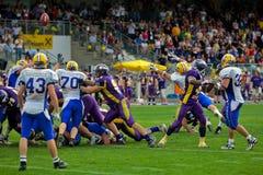 Vikings vs. Giants Stock Images