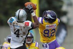 Vikings vs. Raiders Royalty Free Stock Image