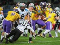 Vikings vs. Raiders Royalty Free Stock Images