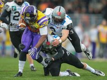 Vikings vs. Raiders Royalty Free Stock Photo