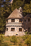 Vikingsholm. A view of a turret at Vikingsholm Mansion- This is a historic mansion in Emerald Bay State Park on Lake Tahoe in California stock images