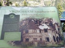 Vikingsholm Skandinavisch kasteel royalty-vrije stock foto's
