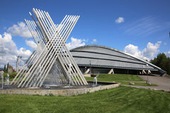 Vikingskipet in Hamar. Hamar Olympic Hall called Vikingskipet (The Viking Ship). Norway Stock Photo