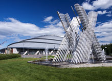 Vikingskipet olympische Arena Stockfotografie